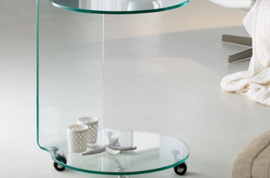 ·GLASS· ROUND SIDE TABLE